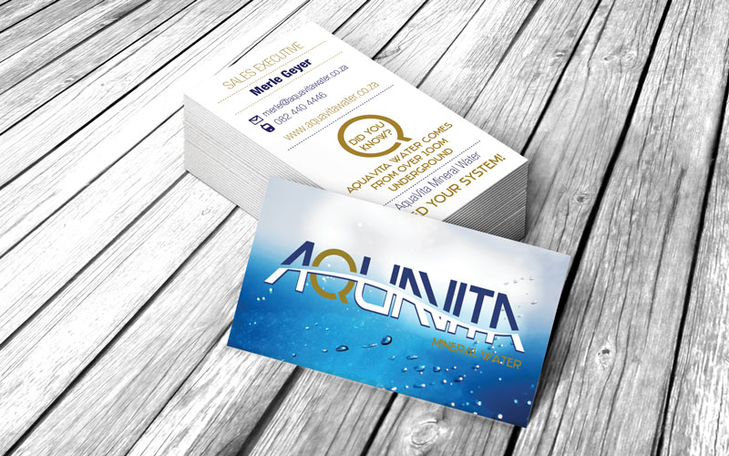 Aquavita Business Cards